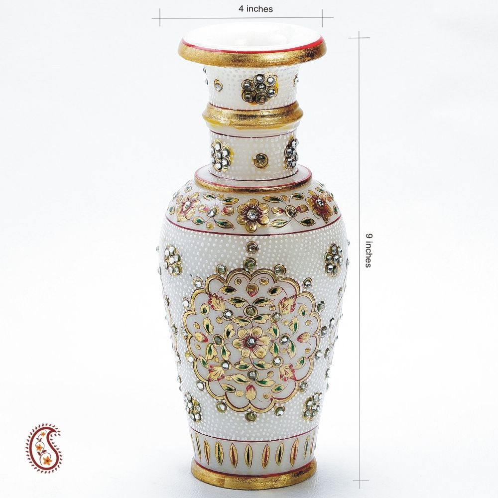 Decorative vases online Marble flower vase shopping India