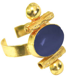 Buy Blue Yellow Gold rings Ring online