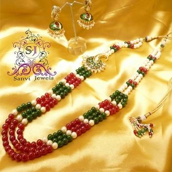 Paisley Meenakari Long Necklace