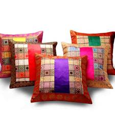Assorted Velvet n Brocade 5 Pc. Cushion Covers Set Diwali Special Gift 457