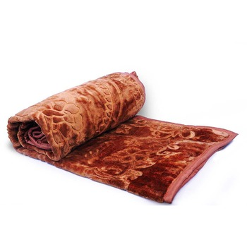 Delicate Furry Touch Embossed Single Bed Blanket Deepawali Special Gift 108
