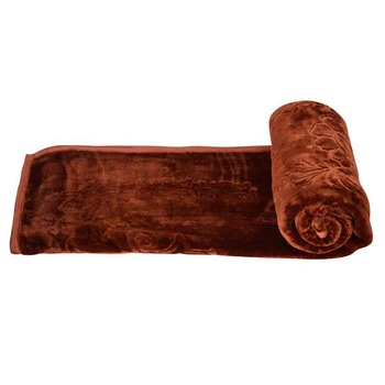 Durable Embossed Design Single Bed Mink Blanket Deepawali Special Gift 113