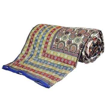 Handblock Print Multicolor Cotton Double Bed Dohar Diwali Gift 308
