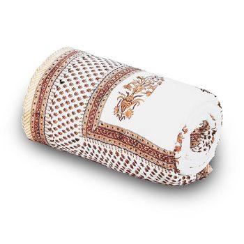 Brown Floral Designer Cotton Double Bed Comforter Deepawali Gift 606