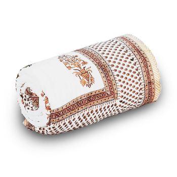 Designer Floral Block Print Single Bed Comforter Diwali Special Gift 210