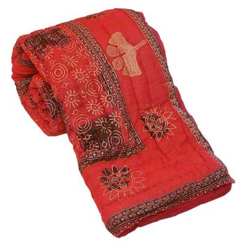 Jaipuri Print Stylish Coton Double Bed Razai Quilt Deepawali Special Gift 312