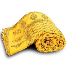 Paisley Designer Yellow Jaipuri Double Bed Quilt Deepawali Special Gift 334