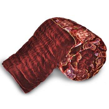 Traditional Floral Design Single Bed Velvet Quilt Diwali Special Gift 505