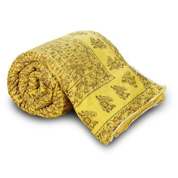 Ethnic Rajasthani Hand Block Cotton Single Quilt Diwali Special Gift 125