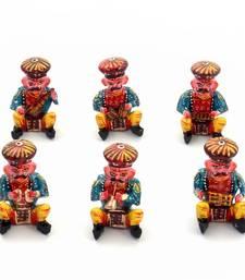 Buy Rajasthani 6 Piece Musician Bawla Set in Wood Deepawali Gift 183 diwali-decoration online