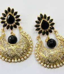 Buy ANTIQUE GOLDEN  PEARLS HANGINGS Earring online