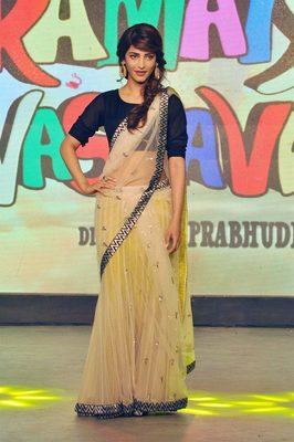 Shruti Hasan Gorgeous Bollywood Designer Net Saree Deepawali Gift 535