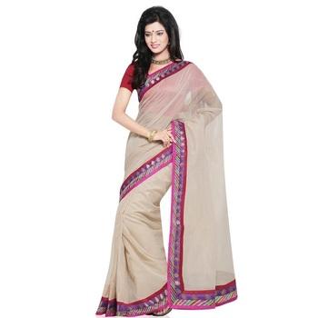 Latest Design Super Net Cotton Saree n Blouse Set Deepawali Special Gift 219