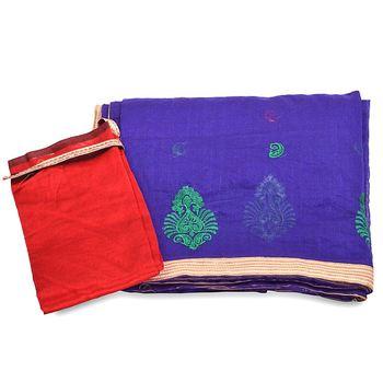 Zari Resham Embroidery Work Banarasi Supernet Sari Diwali Special Gift 280