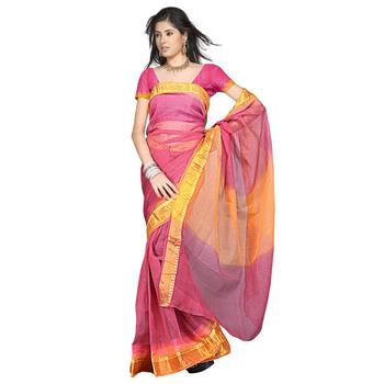 Rajasthani Kota Doria Pure Cotton Saree n Blouse Deepawali Special Gift 102