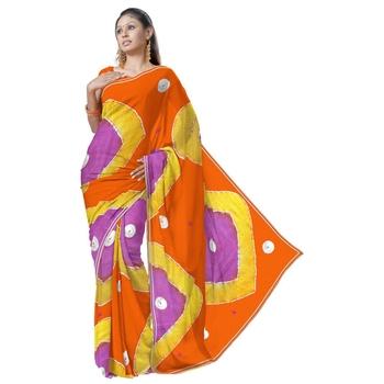 Exclusive Kota Doria Cotton Multicolor Sari Blouse Deepawali Special Gift 163