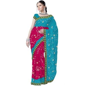 Marvellous Ethnic Pure Chiffon Tie n Dye Saree Deepawali Gift 178