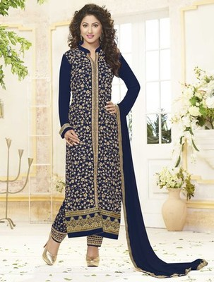Navy Blue Pure GeorgetteDrees Material