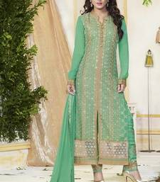 Buy Green Pure GeorgetteDrees Material black-friday-deal-sale online