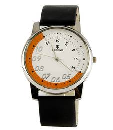 Buy Men Pure Leather Strap White Dial Wrist Watch Deepawali Special Gift 105 diwali-corporate-gift online
