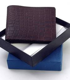 Gents Supreme Quality Pure Leather Brown Wallet Deepawali Special Gift 111