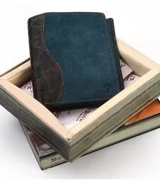 Buy Gents Italian Designer Stylish Blue Leather Wallet Deepawali Gift 143 wallet online