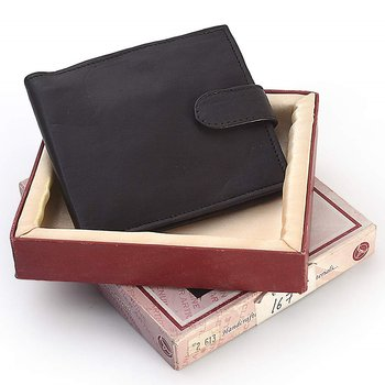 Gents Stylish Design Genuine Leather Black Wallet Diwali Special Gift 182