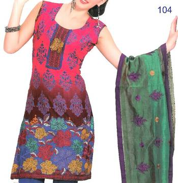 Embroidered Cotton Salwar Material - Embroidery - Riyaa 902782
