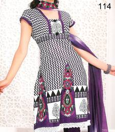 Buy Embroidered Cotton Salwar Material - Embroidery - Riyaa salwars-and-churidar online