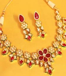 Buy Mughal Kundan Meenakari Necklace Set  necklace-set online