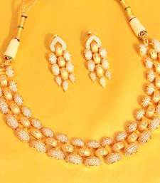 Buy Elegant Diamond Look Rose Gold necklace  designer-jewellery online