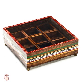 Diwali Gifts Colorful Floral Print Square Utility Box