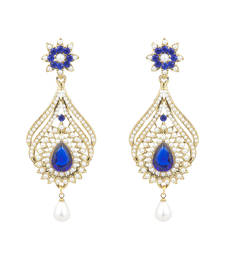 Buy Blue polki danglers-drops danglers-drop online