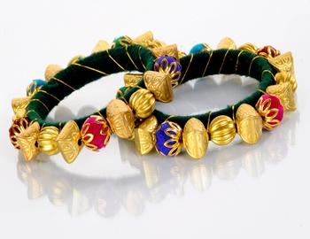 Designer Golden Moti Kada