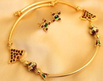 Beautiful Temple Jewel Unique Designer Necklace Set