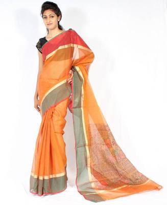 Kota Doria fancy printed pallu saree