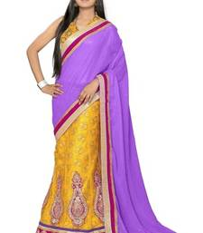 Buy Yellow Embroidered Viscose saree with blouse other-saree online