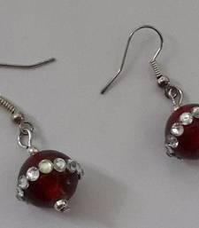 Buy Cherry Red Hangings danglers-drop online
