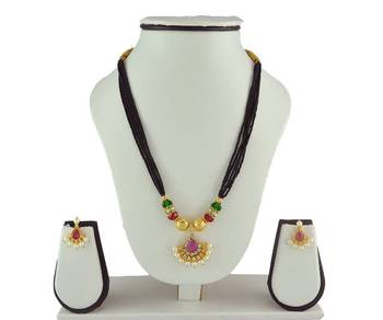 Special Kolhapuri Mangalsutra And Earring Set