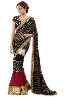Saree Indian Bollywood designer Partywear ethnic wear embroidered traditional