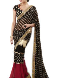 Buy Saree Indian Bollywood designer Partywear ethnic wear embroidered traditional faux-saree online