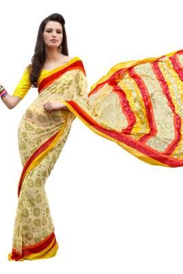 classy printed designer saree