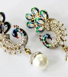 Buy BEAUTIFUL PEACOCK HANGINGS Earring online