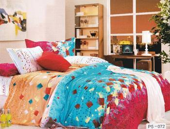 Multicoloured Abstract Printed Luxury Flat Bedsheet from Just Linen