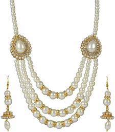 Buy Designer Diamond Necklace Set By Dark Chanel Necklace online