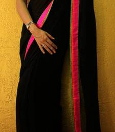 Buy Black Temptations georgette-saree online