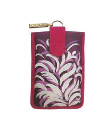 Buy Bhamini Hand Painted Mobile Cover (Purple 3) wallet online
