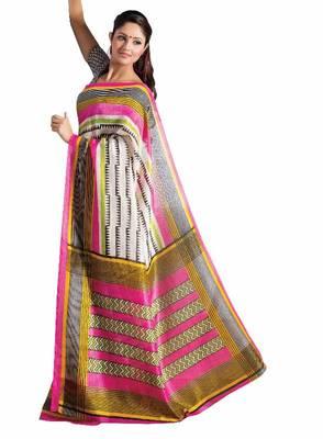 ISHIN Bhagalpuri Silk Multicolor Saree BCVIP-7735