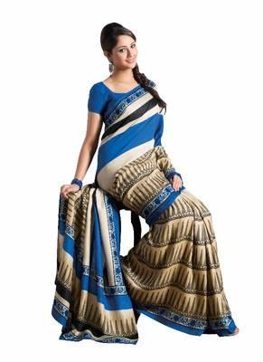 ISHIN Bhagalpuri Silk Multicolor Saree BCVIP-7750