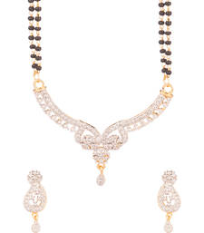 Buy Enrich The Love With This Yellow Gold Toned Mangalsutra Set mangalsutra online